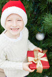 Boy at christmas time Royalty Free Stock Images
