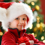 Boy with Chritmas gift Stock Photography