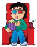 Boy in cinema theme image 1 Stock Photo