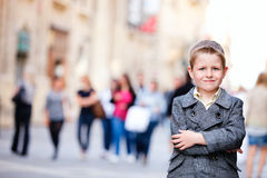 Boy in city Royalty Free Stock Images