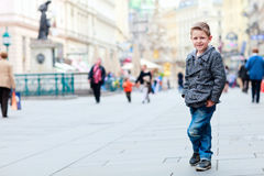 Boy in city Royalty Free Stock Photos