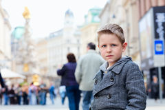 Boy in city Stock Photos