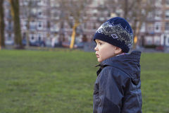 Boy in the city Royalty Free Stock Image