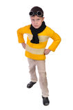 Boy clad in yellow sweater and spectacles Stock Photography