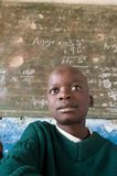 Boy in Class in Zimbabwe Royalty Free Stock Image