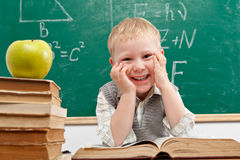 Boy in classroom Royalty Free Stock Image