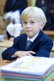 Boy in classroom having  - primary school Stock Image
