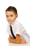 Boy in the classroom stock image