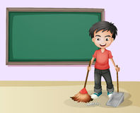 Boy cleaning Royalty Free Stock Photos