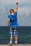 Boy with clenched fist Royalty Free Stock Photo