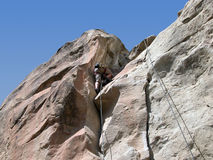 Boy Climbing Royalty Free Stock Images