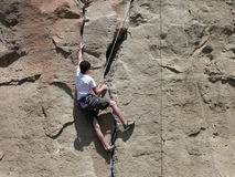 Boy Climbing Stock Photo