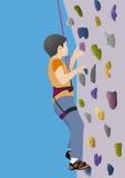 Boy climbing Royalty Free Stock Photography