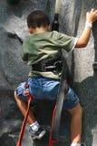 Boy climbing Royalty Free Stock Photos