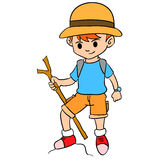 Boy climbing character style design Stock Photography