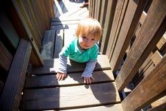 Boy Climbing Playground Royalty Free Stock Images