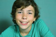 Boy close up smiling portrait Stock Photos
