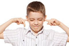 Free Boy Closed Her Ears Stock Photo - 24584620