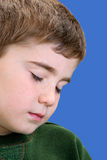 Boy Closing His Eyes Stock Images
