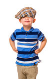 Boy and cloth cap Stock Images