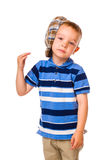 Boy and cloth cap Royalty Free Stock Images