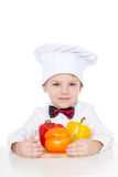 Boy with clothes cooks Stock Photos