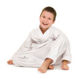 Boy in clothing for martial arts Stock Photography
