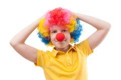 Boy clown Stock Image