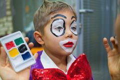 Boy clown Royalty Free Stock Images