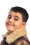 Boy in coat Stock Photos