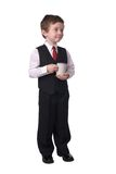 Boy with coffee cup Royalty Free Stock Photography