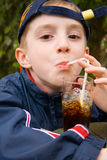 Boy with cola Stock Photo