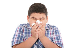 Boy with a cold Stock Photo