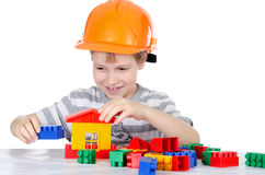 The boy collects the designer Stock Photography