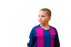 Boy in colorful t-shirt Royalty Free Stock Image