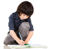 Boy coloring Royalty Free Stock Images