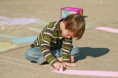 Boy Coloring Royalty Free Stock Photography