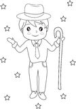 Boy coloring page Stock Photos