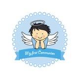 Boy Communion Card Royalty Free Stock Photos