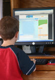 Boy on Computer Royalty Free Stock Photography