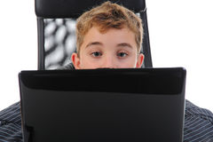 Boy at the computer Royalty Free Stock Photo