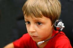 Boy at the computer Royalty Free Stock Image