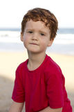 Boy concerned worried expression Stock Photo