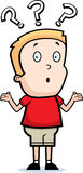 Boy Confused. A cartoon boy with a confused expression stock illustration