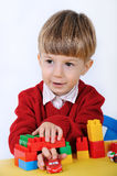 Boy with constructor Royalty Free Stock Photos