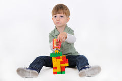 Boy with constructor Stock Photography