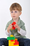 Boy with constructor Royalty Free Stock Photo