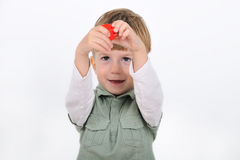 Boy with constructor Stock Image