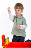 Boy with constructor Royalty Free Stock Images