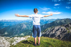 Boy contemplate the view Royalty Free Stock Photography